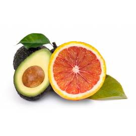 Blood oranges (13 Kg) and avocado (2 Kg)