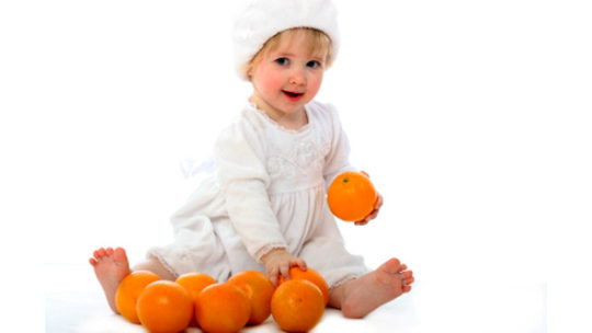 Oranges in the baby's diet