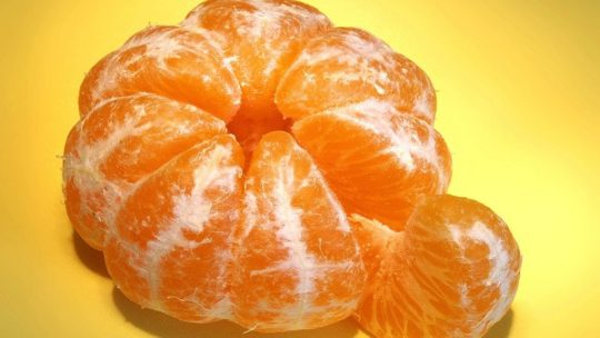 Natural remedies with tangerines