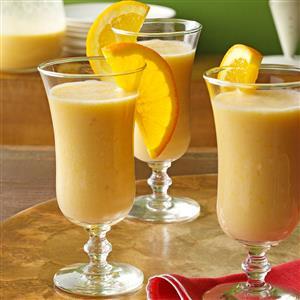 Natural orange smoothies